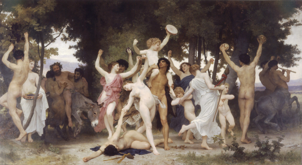 """William Adolphe Bouguereau, """"The Youth of Bacchus"""" (1884)"""